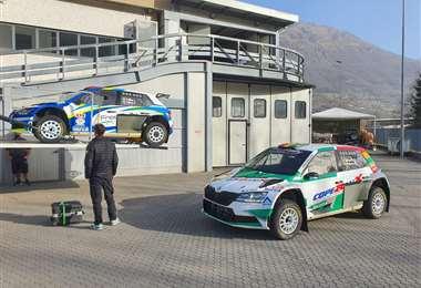 El coche de Bruno Bulacia que está listo para la carrera del domingo. Foto: Marlene Peña