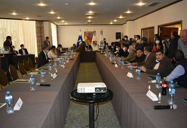 La reunión de consejo superior ya se desarrolla en La Paz. Foto. APG