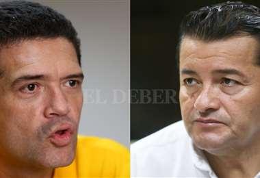 Gary Áñez y Jhonny Fernandez. Foto: EL DEBER Archivo