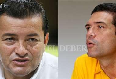 Jhonny Fernandez y Gary Áñez. Foto: EL DEBER Archivo