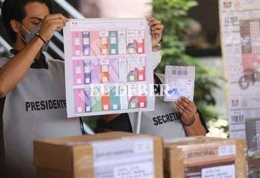 Simulacro de votación en Santa Cruz/Foto: Jorge Ibáñez