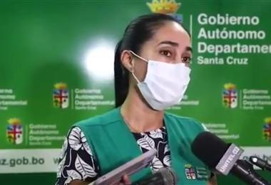 Tatiana Añez informó sobre la suspensión de la reunión