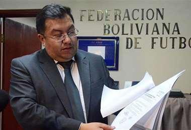 Walter Torrico, presidente de la Asociación de Fútbol de La Paz. Foto: internet