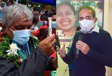 Iván Arias y César Dockweiler, candidatos a la Alcaldía de La Paz. Foto: APG