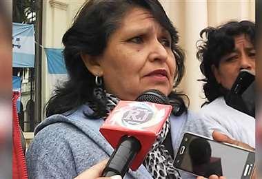 Susana Mendiola, madre de una de las víctimas, manifestó su rechazo a la indemnización