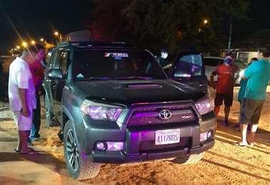 Vehículo donde fue asesinado Cristian Molina Carreño