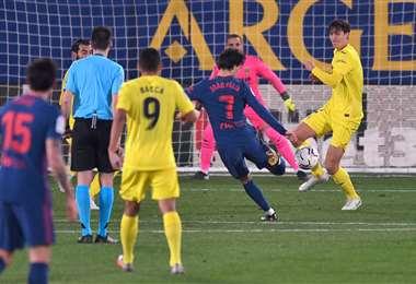 El gol de Joao Félix, delantero del Atlético, ante Villarreal. Foto. AFP