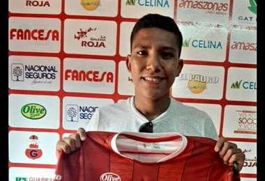 Carlos Abastoflor, el nuevo fichaje de Guabirá. Foto: club Guabirá