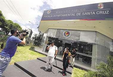 Oficina central de la Fiscalía Departamental en Santa Cruz
