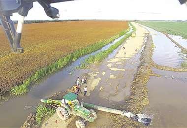 Productores de San Pedro afectados por las lluvias/Foto: David Martishet