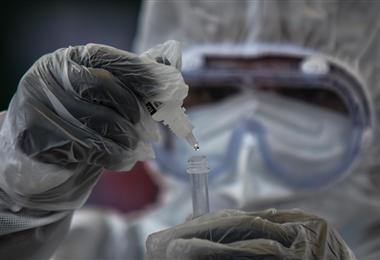 En el país se inició la campaña de vacunación contra el Covid-19. Foto. ABI