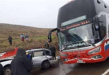 Accidente en la ruta Sucre - Potosí