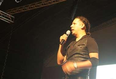 Adhemar Añez en una de las actividades de Fama Machine