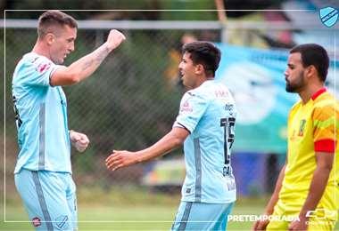 Ramos y García son algunas de las caras nuevas en el equipo paceño. Foto: Club Bolívar