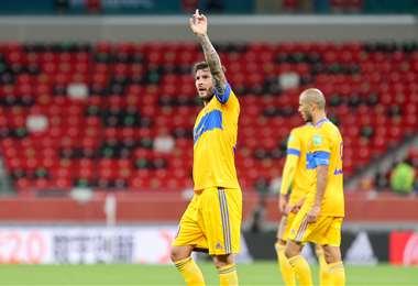 André-Pierre Gignac celebrando uno de sus goles. Foto: AFP