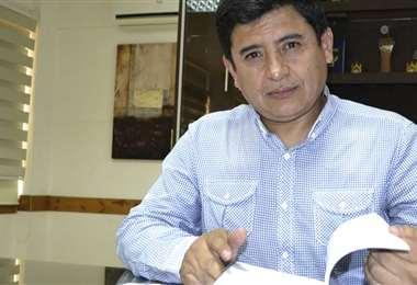 Grover Vargas, presidente de Wilstermann. Foto: El Deber