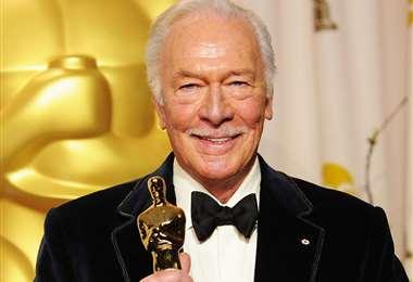 Christopher Plummer cuando recibió el Premio Óscar