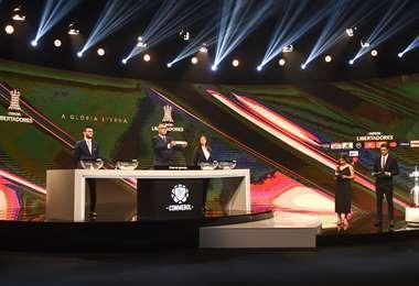 Conmebol organizó el sorteo de la Libertadores y la Sudamericana. Foto: AFP