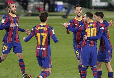 Messi anotó el primer gol de la victoria. Foto: AFP
