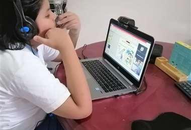 La enseñanza virtual se consolida en Santa Cruz (Foto: Juan Carlos Salinas)