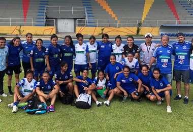 Las futbolistas de Universidad tras clasificarse. Foto: Club Universidad