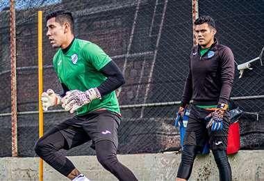Los arqueros de Bolívar en pleno entrenamiento. Foto: Club Bolívar