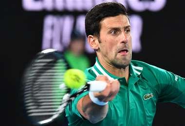 Djokovic comenzó con buen pie el Abierto de Australia. Foto. AFP