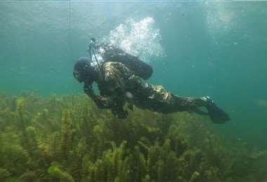 Realizaron inmersiones de 10 metros de profundidad. Fotos La Aramada en Acción