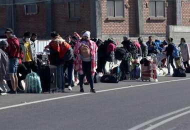 Las personas ingresaron de forma irregular a Chile. Foto SoyChile