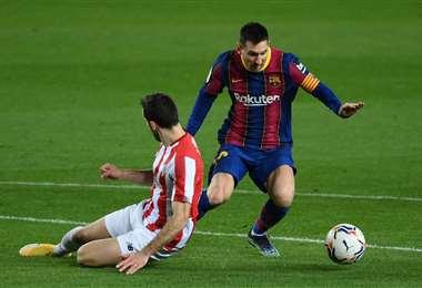 Messi será titular este miércoles ante Sevilla. Foto. AFP