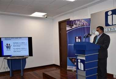 Cazón titular del SIN explicó el nuevo reglamento para el IGF (Foto: SIN)