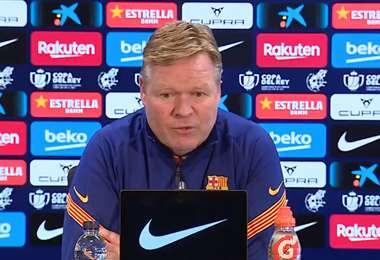 Ronald Koeman, DT del Barcelona. Foto: @FCBarcelona_es