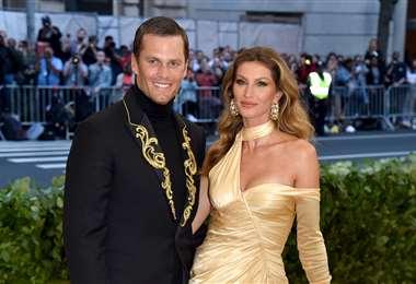 Tom Brady y su esposa la supermodelo Gisele Bundchen, una pareja de altura