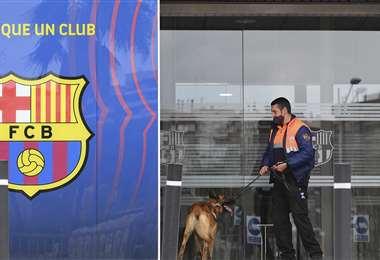 Las oficinas del FC Barcelona. Foto: AFP