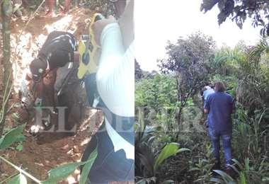 En Villa Tunari hallan el cuarto cuerpo de una joven desaparecida. Foto: Felcc