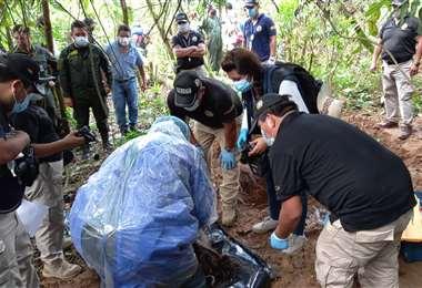 Hallan cuerpo enterrado en Villa Tunari/Foto: Fiscalía