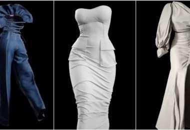 La diseñadora africana Anifa Mvuemba presentó una colección sin modelos