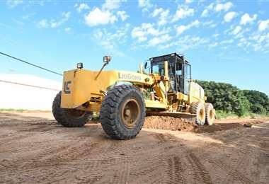 Comenzaron los trabajos de pavimentación de la Radial 26. Foto. Gobierno municipal