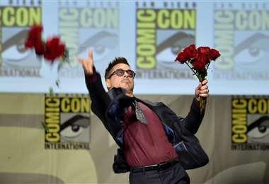 El actor Robert Downey Jr en una de sus participaciones en la Comic-Con de San Diego