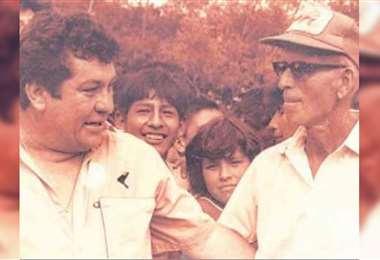 Eduardo Guilarte y el padre Enrique Bujold, impulsores del club San Martín