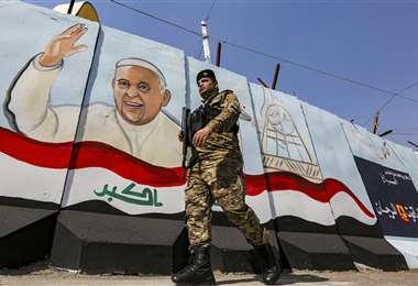 Visita del papa a Irak. Foto AFP