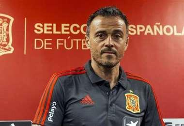 Luis Enrique, DT de España. Foto: AFP