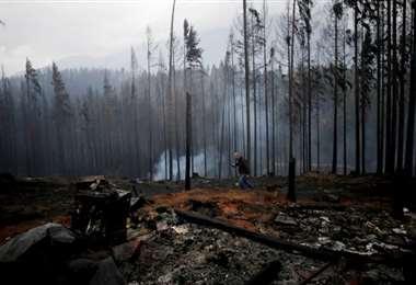 Rastros del fuego en Argentina. Foto Clarín