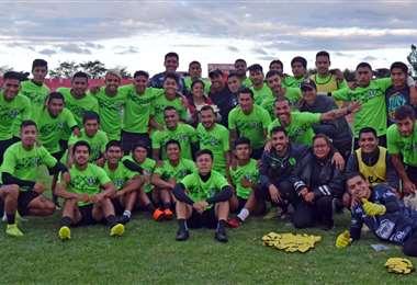 Los jugadores de Real Tomayapo. Foto: Real Tomayapo