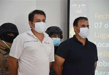 Policía presenta a los detenidos en Nueva Esperanza. Foto: Internet