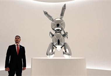 Rabbit de Jeff Koons en exposición