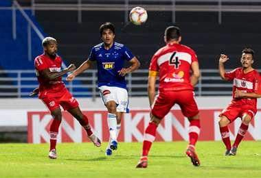 Marcelo Martins fue vital el jueves en la clasificación de Cruzeiro. Foto: Cruzeiro