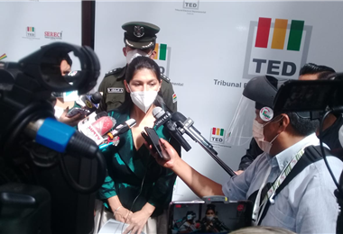 Presidenta del Tribunal Electoral de Tarija. Foto. David Maygua
