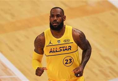 LeBron James, figura de los Lakers y de la NBA en EEUU. Foto: AFP