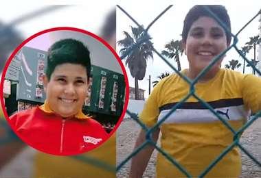 El niño tiene 12 años y tiene diferentes videos en TikTok